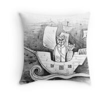 Away we sail  Throw Pillow