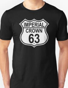 Highway Route Sign 1963 Imperial Crown Image On Front And Back T-Shirt