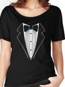 TUXEDO Wedding Groom Prom Bow Women's Relaxed Fit T-Shirt