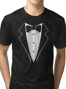 TUXEDO Wedding Groom Prom Bow Tri-blend T-Shirt