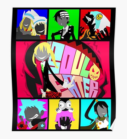 Let's Get Neon (Soul Eater) Poster