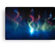 light painting in the night Canvas Print