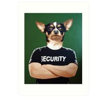 Barry the security guard Art Print