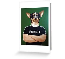 Barry the security guard Greeting Card