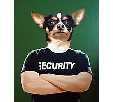 Barry the security guard Photographic Print