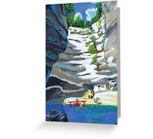 Plane by the Sea Greeting Card