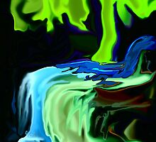 Neon Tree and Waterfall by MaeBelle