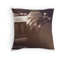 Old School - Canon AE-1  Throw Pillow