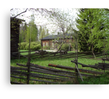 Old Homestead in Springtime Canvas Print