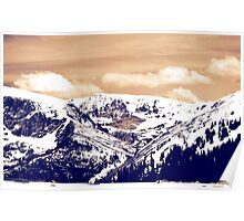 Snowy Mountains in Colorado Poster