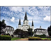 Old Cathedral in Jackson Square, New Orleans Photographic Print