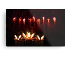 DisneyLand Castle Fireworks Metal Print