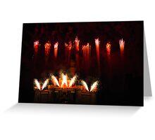 DisneyLand Castle Fireworks Greeting Card