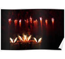 DisneyLand Castle Fireworks Poster