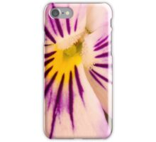 Purple And White Pansy Macro iPhone Case/Skin