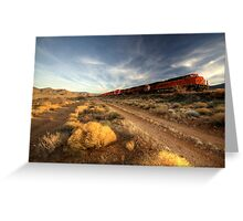 Westbound Freight  Greeting Card