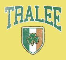 Tralee, Ireland with Shamrock One Piece - Short Sleeve