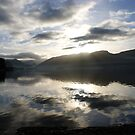 sky and water - Derwent Water the Lake District by monkeyferret