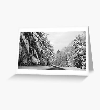 Maine Winter Backroad Greeting Card