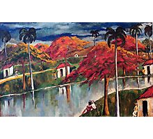 Victor Manuel Cuban Countryside Painting Photographic Print