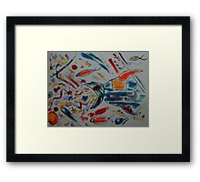 The Swearing Fish Framed Print