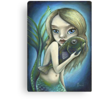 Mermaid and catfish Canvas Print