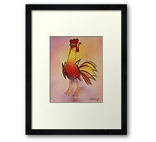 Mariano Rodriguez Cuban Gallo Rooster Painting Framed Print