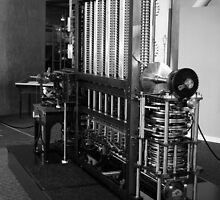 Babbage Difference Machine in Black and White, Computer History Museum, Mountain View, California by Igor Pozdnyakov