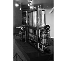 Babbage Difference Machine in Black and White, Computer History Museum, Mountain View, California Photographic Print