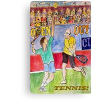 Tennis Strokes Canvas Print