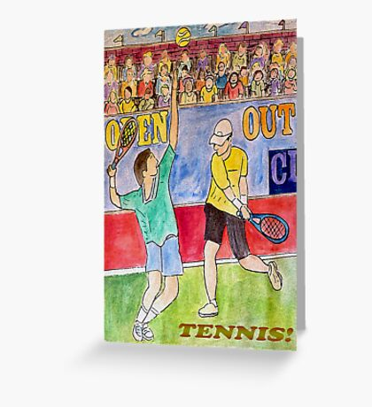 Tennis Strokes Greeting Card