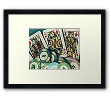 The Chips are Down Framed Print
