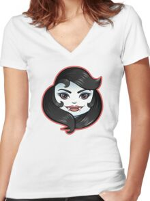 Cute Creepies: The Vampiress Women's Fitted V-Neck T-Shirt