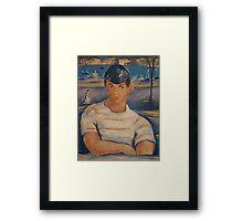 Victor Manuel Cuban Sailor Painting Framed Print