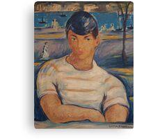Victor Manuel Cuban Sailor Painting Canvas Print