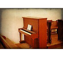 Cades Cove Church Piano Photographic Print