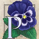 P is for Pansy card by Stephanie Smith
