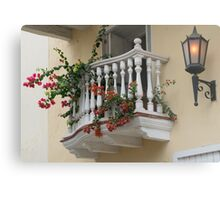 Charming Balcony in Cartagena, Colombia Metal Print
