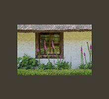 Old Window and Flowers Unisex T-Shirt