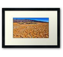 Clark Dry Lakebed - Anza Borrego Desert Framed Print