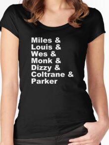 DIZZY MILES DAVIS SOUL FUNK MONK COOL Women's Fitted Scoop T-Shirt