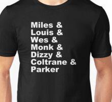 DIZZY MILES DAVIS SOUL FUNK MONK COOL Unisex T-Shirt