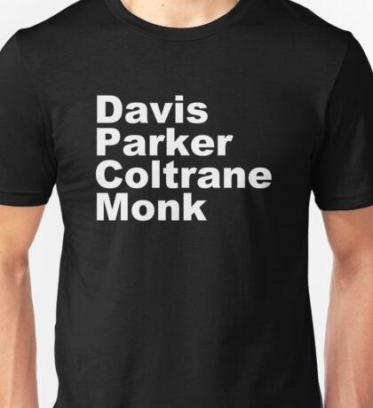 MILES DAVIS MONK VINYL PARKER Unisex T-Shirt