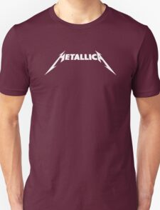 Metallica White Text Band Logo Official Licensed Adult T-Shirt