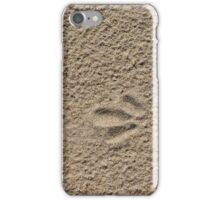 Footprint in the sand iPhone Case/Skin