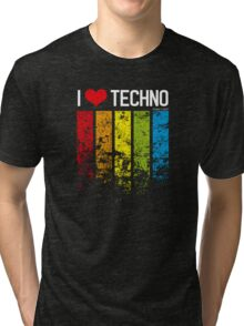 I Heart Techno Tri-blend T-Shirt