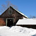 Old Barn and Blue Skies by smalletphotos
