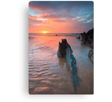 The Red West, Coombesgate, North Devon Canvas Print