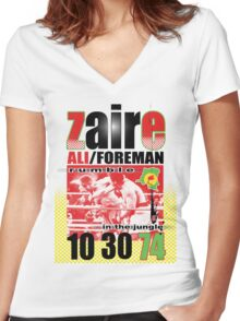 ali foreman Women's Fitted V-Neck T-Shirt