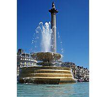 Trafalgar Square Fountains Photographic Print